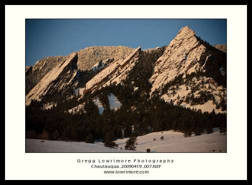 Flatirons in Alpenglow