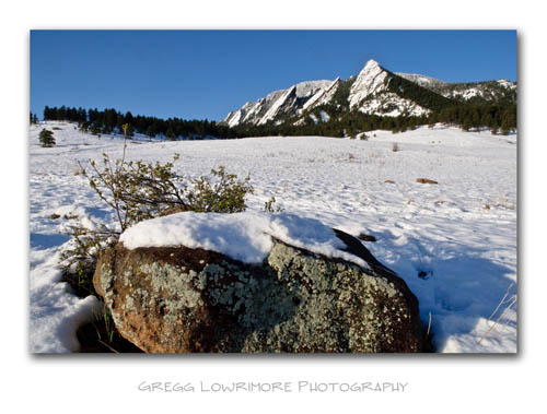 Chautauqua Park and Flatirons - Snow