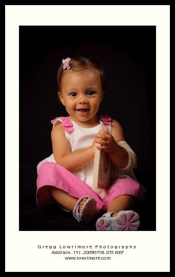 Addison 1 Year Portrait - Book