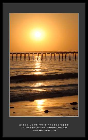 Sunset and Pier, Santa Barbara, California