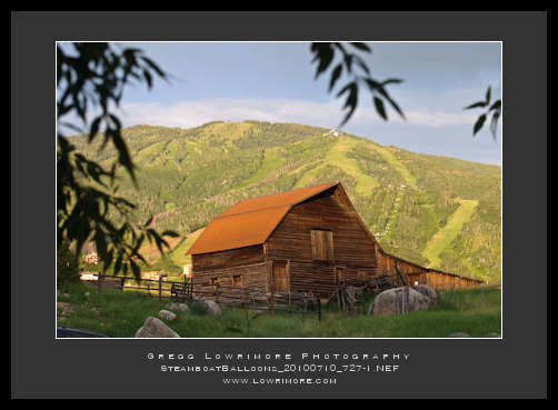 Steamboat Barn in Alpenglow