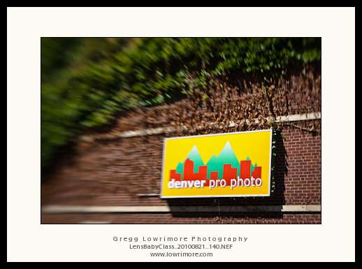 Denver Pro Photo building via Lensbaby Composer