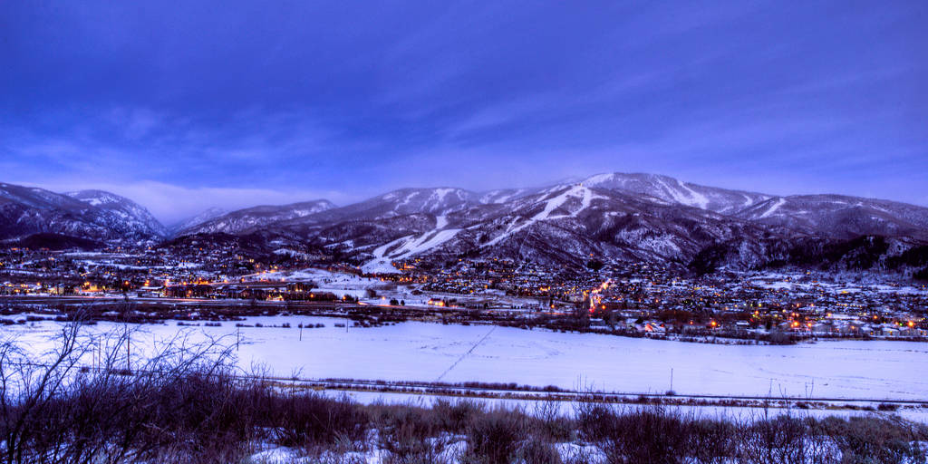 Steamboat Ski Town Twilight HDR
