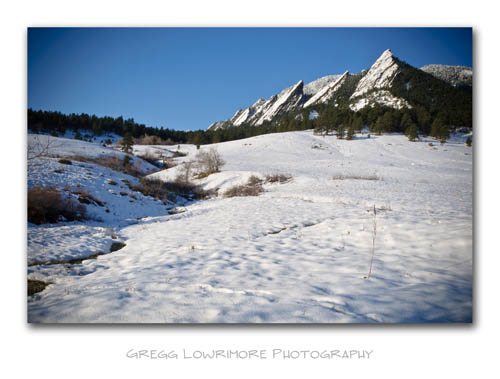 Flatirons and Seasonal Creek Draw