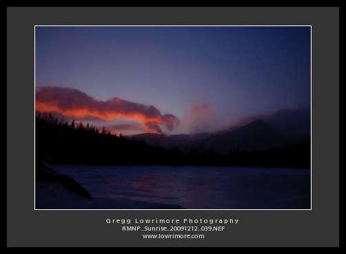 Sunrise Over Bear Lake, Crescent Moon