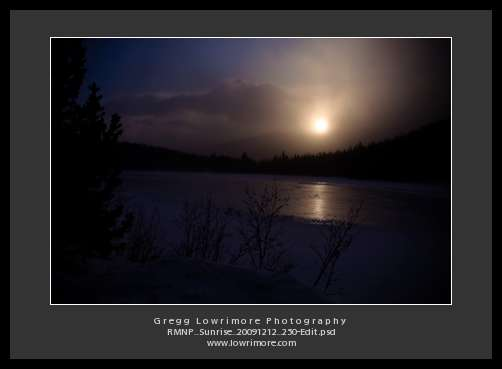 Sun Rising Over Bear Lake, Snow