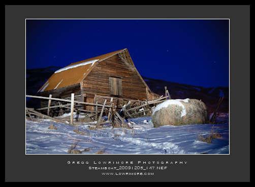 Steamboat Barn - Lightpainting