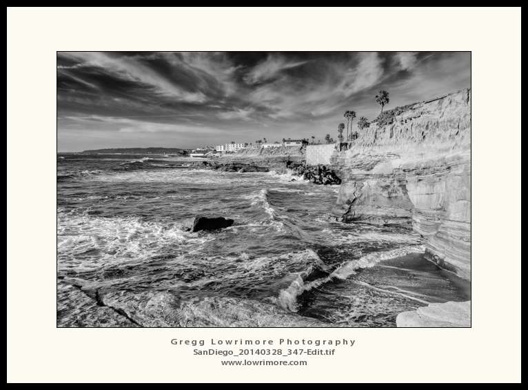 SanDiego 20140328 347 Edit Sunset Cliffs II B&W
